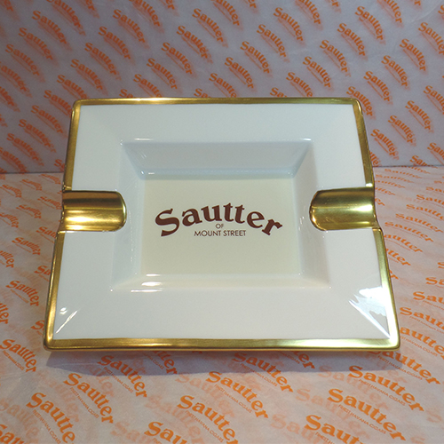 Sautter Bone China Ashtray Beige