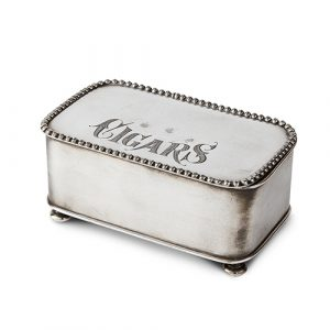Silver Plated Cigar Box