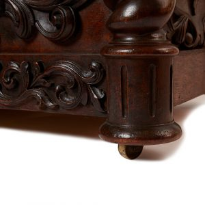 Late Victorian Carved Oak Humidor