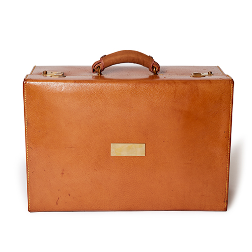 Small Leather Vintage Briefcase