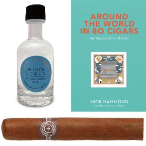 1 x Montecristo No.5 (Single cigar) & Around The World in 80 Cigars by Nick Hammond & LEGGETS X Nick Hammond Oriental Cigar Gin 50ml