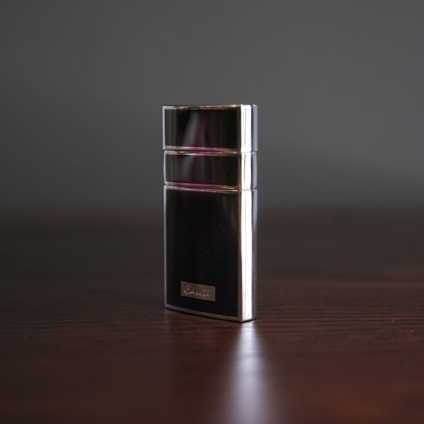 Caseti of Paris - Elegant Torch Cigar Lighter (Black Lacquer & Silver)