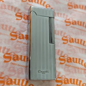 Caseti of Paris - Engine Turned Flame Lighter (Silver)
