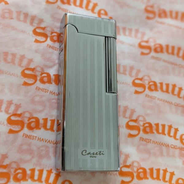 Caseti of Paris - Engine Turned Flame Lighter (Silver)