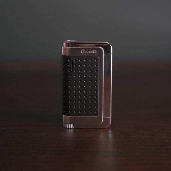 Caseti of Paris - Sporty Torch Cigar Lighter (Black & Silver)
