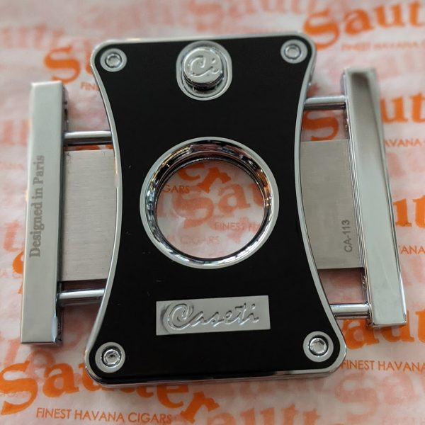 Caseti of Paris - Twin Blade Cigar Cutter (Black Lacquered)
