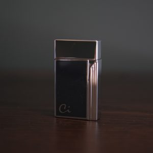 Elegant Cigar Torch Lighter (Navy Lacquer & Silver)