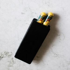 Black Dunhill Cigar Case with 2 x Montecristo OPEN Junior Tubos